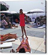 Eden Roc Beach Club Acrylic Print
