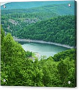 Edersee Lake Surrounded With Forest Acrylic Print