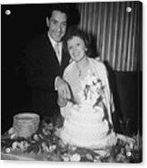 Edith Piaf Cuts Wedding Cake Acrylic Print