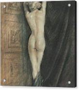 Edouard Chimot Nude In Boudoir  Acrylic Print