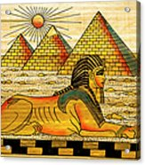 Egyptian Souvenir Papyrus Acrylic Print