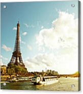Eiffel Tower And The River Seine Acrylic Print