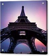 Eiffel Tower At Sunset Acrylic Print