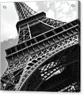 Eiffel Tower In Black And White Acrylic Print