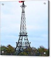 Eiffel Tower In Paris Texas Acrylic Print