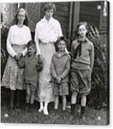 Eleanor Roosevelt With Her Children Acrylic Print