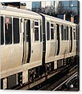 Elevated Train Descends Into Subway Acrylic Print