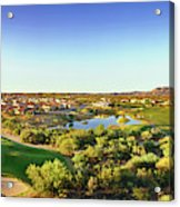 Elevated View Of Golf Course, Sun City Acrylic Print