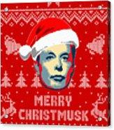 Elon Musk Merry Christmusk Acrylic Print