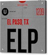 Elp El Paso Luggage Tag I Acrylic Print