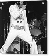 Elvis Presley On Stage During His 1972 Acrylic Print