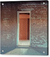 Empty Old Brick House Grafton Ghost Town Acrylic Print