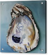 Empty Oyster Shell Acrylic Print