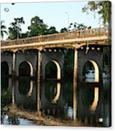 End Of An Era, East Innisfail Jubilee Bridge, Fnq Au  Acrylic Print