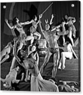 England. 1949. French Dance Troupe Les Acrylic Print