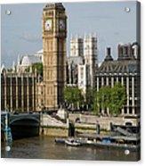 England, London, Big Ben And Thames Acrylic Print