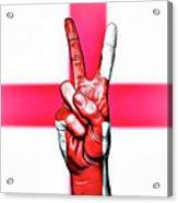 England Peace Flag Acrylic Print