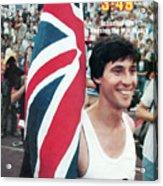England Sebastian Coe, 1979 Iaaf Dubai Golden Mile Sports Illustrated Cover Acrylic Print