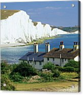 England, Sussex, Seven Sisters Cliffs Acrylic Print