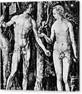Engraving Of Adam And Eve Acrylic Print
