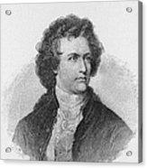 Engraving Of Johann Wolfgang Von Goethe Acrylic Print