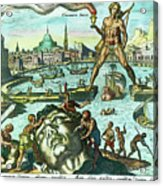 Engraving Of The Colossus Of Rhodes Acrylic Print