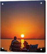 Enjoying The Sunset Acrylic Print