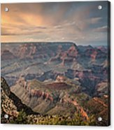 Epic Sunset Over Grand Canyon South Rim Acrylic Print