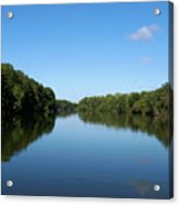 Erie Canal In Early Autumn Acrylic Print