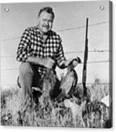 Ernest Hemingway Showing His Pheasants Acrylic Print