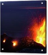 Eruption Of Stromboli Volcano, Italy Acrylic Print