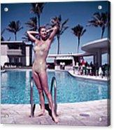 Esther Williams In Florida Acrylic Print
