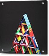 European Debt Crisis House Of Cards Vt Acrylic Print