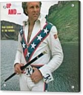 Evel Knievel, Motorcycle Daredevil Sports Illustrated Cover Acrylic Print