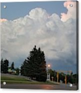 Evening Lightning Storm Illuminates The Sky Acrylic Print