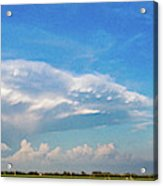 Evening Supercell And Lightning 004 Acrylic Print