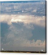 Evening Supercell And Lightning 012 Acrylic Print