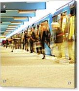 Exiting Subway Train Acrylic Print