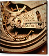 Exposing The Inner Workings And Gears Acrylic Print