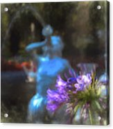 Expressive Flower And Fountain At Forsyth Park Acrylic Print