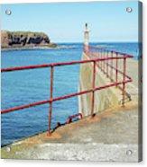Eyemouth Harbour Pier Entrance Acrylic Print