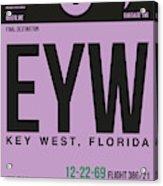 Eyw Key West Luggage Tag I Acrylic Print