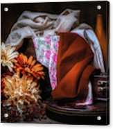 Fabric And Flowers Acrylic Print