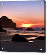 Face Rock At Sunset Acrylic Print