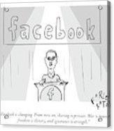 Facebook Doublethink Acrylic Print