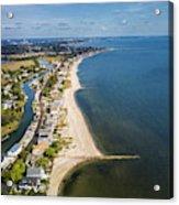 Fairfield Beach Connecticut Aerial Acrylic Print
