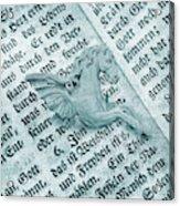 Fairytale Theme With Pegasus Horse Acrylic Print