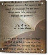 Faith 6976 Acrylic Print