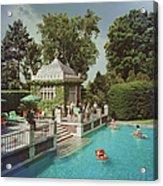 Family Pool Acrylic Print