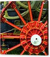 Fancy Tractor Wheel Acrylic Print